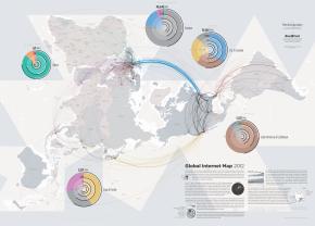 Global internet map. Elaborado por TeleGeogrphy